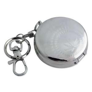 Petit cendrier rond transportable porte-clés