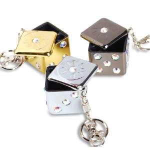 Porte-clés cendrier de poche en forme de dé