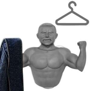 Porte-manteau ventouse homme musclé