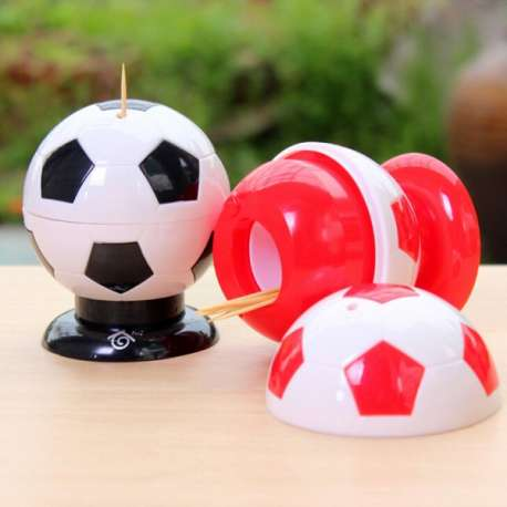 Distributeur de cure-dents un ballon de foot range cure-dent