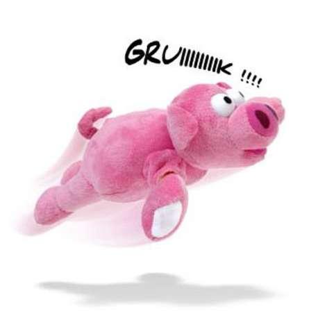 Peluche cochon volant porc catapulte