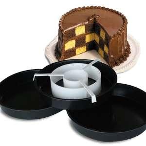 Kit moules à gâteau en damier à 3 étages