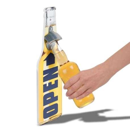Ouvre-bouteille murale en forme de bouteille