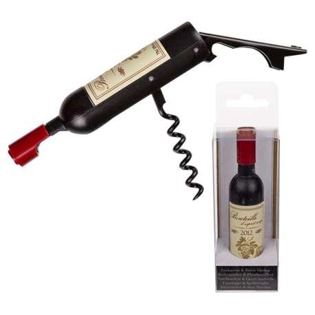 Tire-bouchon et décapsuleur allure bouteille de vin Bordeaux 2012