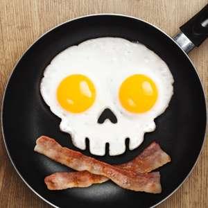 Moule silicone tête de mort œuf sur plat squelette