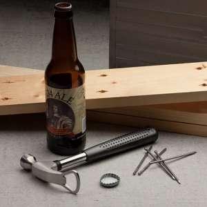 Marteau décapsuleur ouvre bouteille caoutchouc anti-glisse