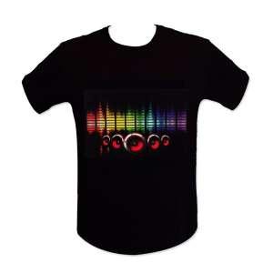 T-shirt sono lumineuse LED equalizer lumineux enceinte
