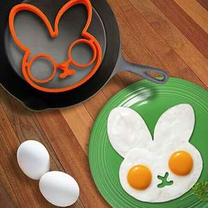 Moule pour œuf sur plat en forme de lapin
