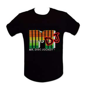 "T-shirt lumineux ""M DJ"" LED equalizer"