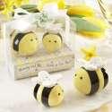 Duo sel et poivre abeilles en céramique salière et poivrière