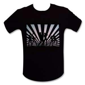 T-shirt interactif motifs danseurs à LED lumineux equalizer