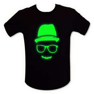 T-shirt visage cool fluorescent