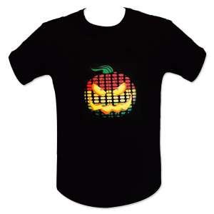 T-shirt lumineux LED equalizer citrouille lumineuse