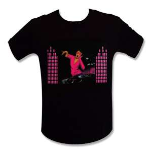 T-shirt Dj rose equalizer éclairé interactif