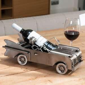 Porte-bouteille voiture métallique