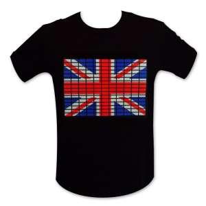 T-shirt drapeau anglais equalizer lumineux LED