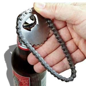 Chaine de vélo décapsuleur ouvre bouteille