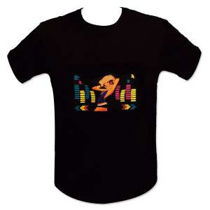 T-shirt equalizer éclairage LED dj blonde lumineux