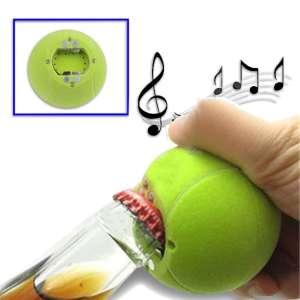 Ouvre-bouteille balle tennis décapsuleur sonore