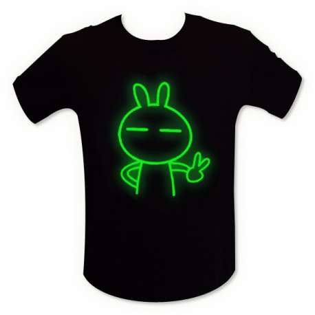 T-shirt phosphorescent lapin