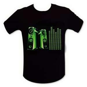 T-shirt enceinte mur de son LED equalizer lumineux