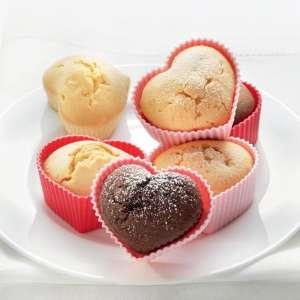 Moule coeur en silicone 6 muffins 6 mini cake