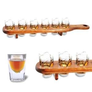 Plateau avec 6 verres shooters