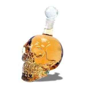 Bouteille Crystal whisky en tête de mort 500ml conservation alcool