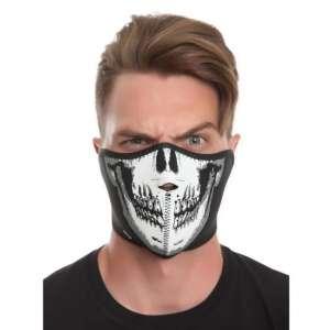 Masque forme de visage de squelette
