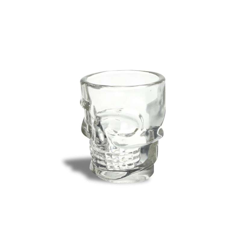Cadeau pour homme et femme Set de verres /à t/ête de mort Accessoires de cuisine Accessoires de bar pour homme et femme Set de verres /à shooters Lot de 4 verres /à shooters en forme de t/ête de mort
