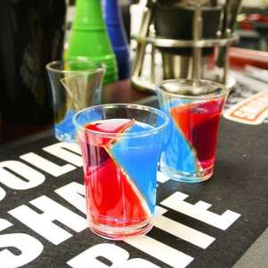 5 Verres shooters twister à double compartiment double chambre