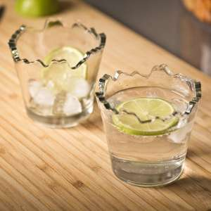 2 verres shooter déchiquetés effets cassés