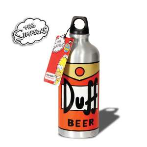 Gourde Duff beer Homer The Simpsons inox
