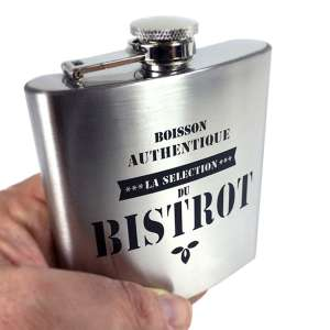 Flasque en inox de poche look Bistrot