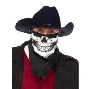 Bandana squelette noir et blanc