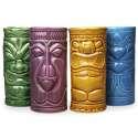 Lot de 4 verres à cocktails Statuettes Tiki mugs tiki