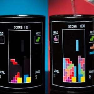 Mug thermo-réactif du jeu Tetris tasse thermo-changeante