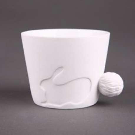 Tasse lapin avec une poignet en queue d'animal mug céramique