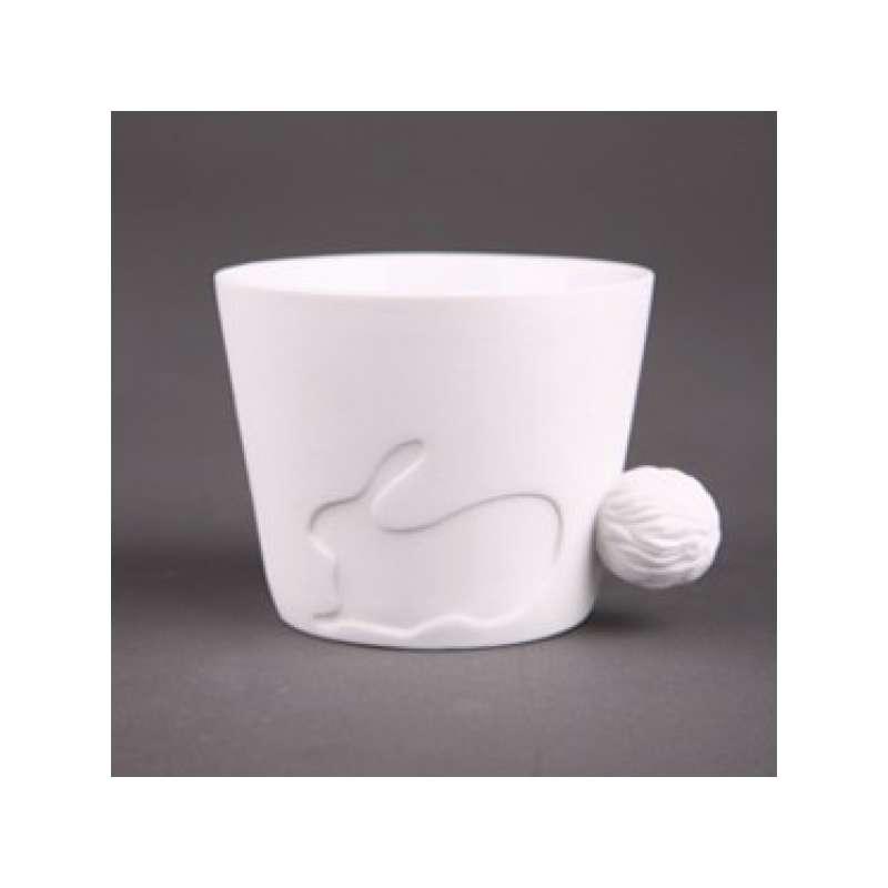 Avec Tasse En Une Queue Lapin Mug D'animal Céramique Poignet EYH2IWD9