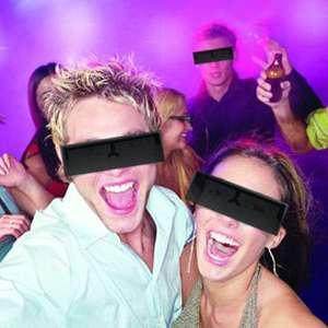 Paire de lunettes barre noire censurée costume déguisement
