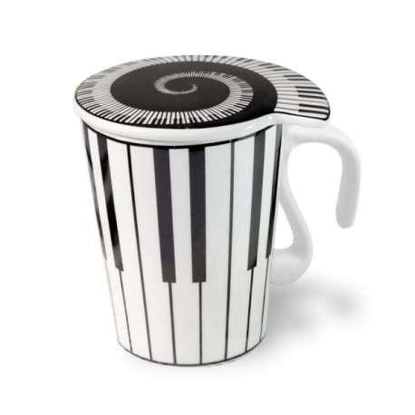 Mug piano à couvercle tasse céramique