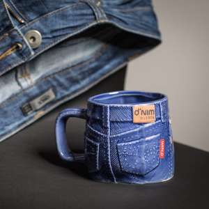 Mug original blue jean denim tasse pantalon