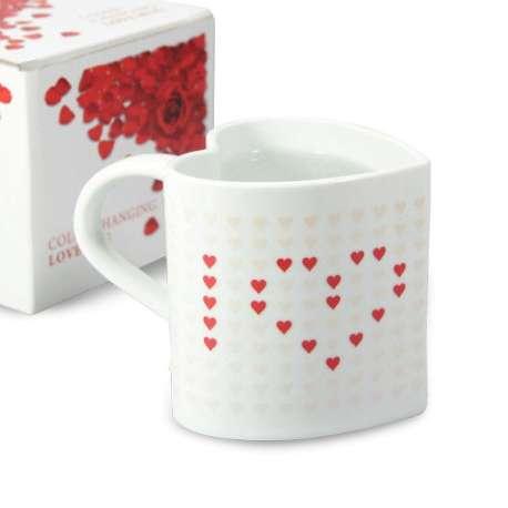 Tasse thermique cœurs magiques - I love you mug thermo-réactifs