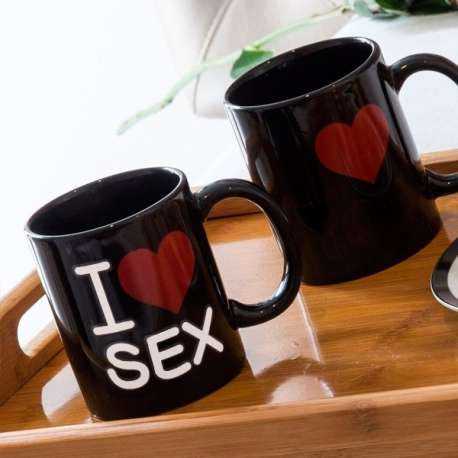 Mug thermoréactif tasse I Love Sex