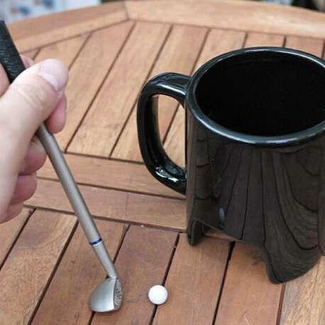 Tasse mini golf 1 mini club de golf, 1 balle mug golfeur