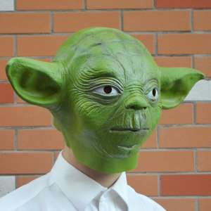 Masque yoda star wars déguisement latex