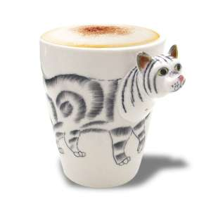 Mug tête de chat en 3D tasse animal