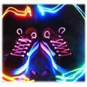 Paire de lacets originaux à LED lumineux