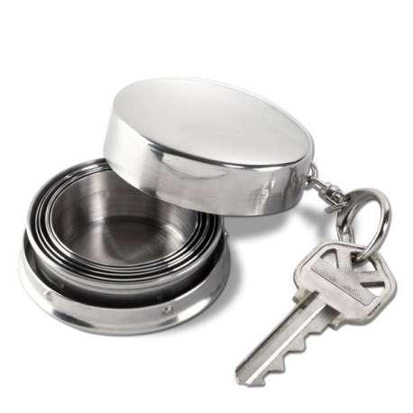 Porte-clé mini gobelet rétractable