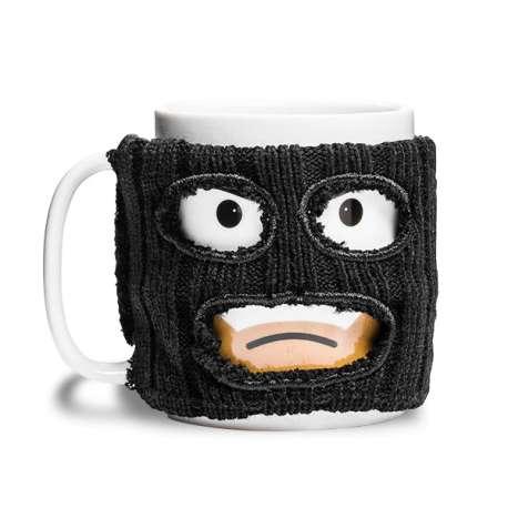 Mug bandit avec cagoule noire amovible tasse insolite et original